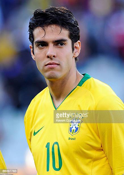 Kaka of Brazil poses before the FIFA Confederations Cup match between Brazil and Egypt at Free State stadium on June 15 2009 in Bloemfontein South...