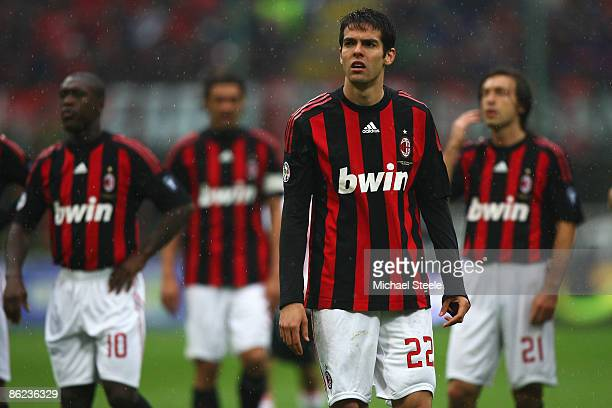 Kaka of Milan during the Serie A match between AC Milan and US Citta di Palermo at the San Siro Stadium on April 26 2009 in Milan Italy