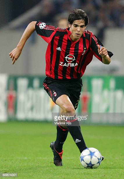 Kaka of Milan in action during the UEFA Champions League Group E match between FC Schalke 04 and AC Milan at the Veltins Arena on September 28 2005...
