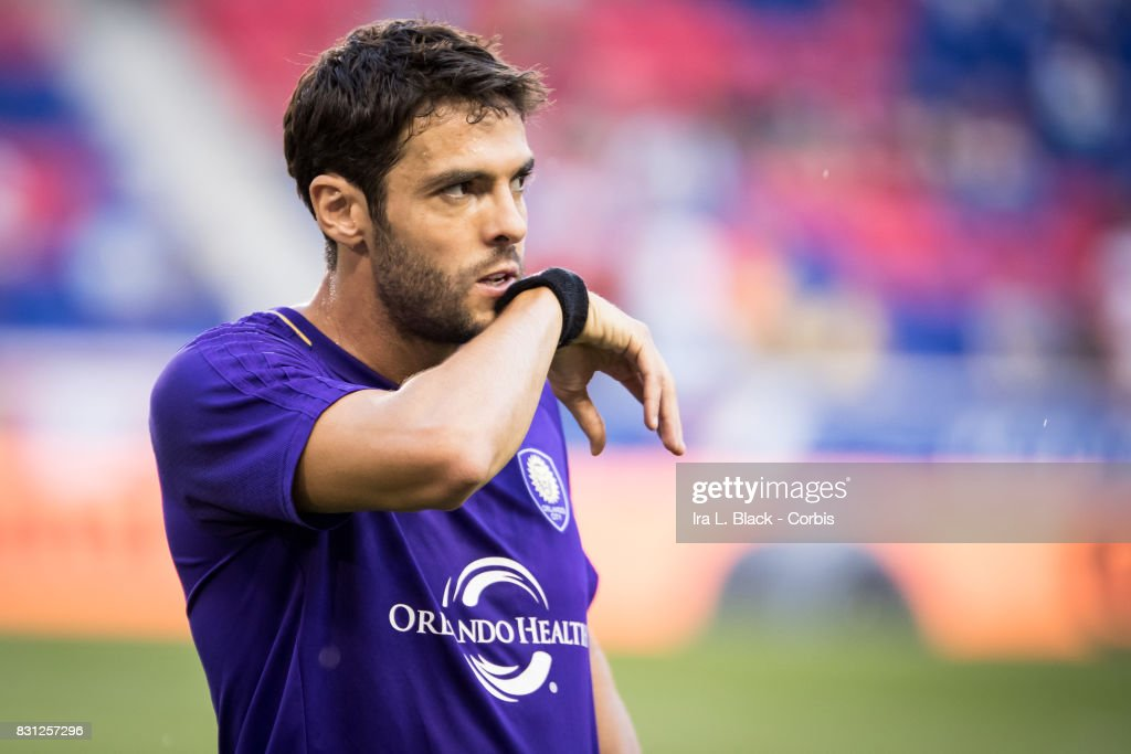Kaka #10 of Orlando City SC warms up prior to the MLS match between New York Red Bulls and Orlando City SC at the Red Bull Arena on August 12, 2017 in Harrison, NJ. The New York Red Bulls won the match with a score of 3 to 1.