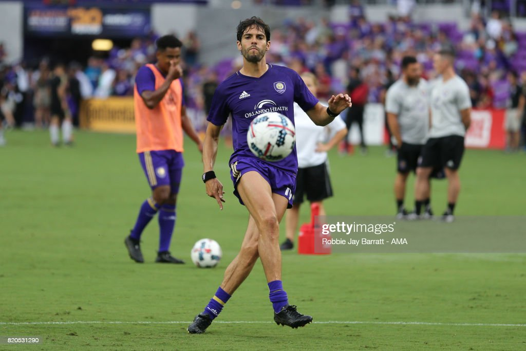 Kaka of Orlando City warms up during the MLS match between Atlanta United and Orlando City at Orlando City Stadium on July 21, 2017 in Orlando, Florida.