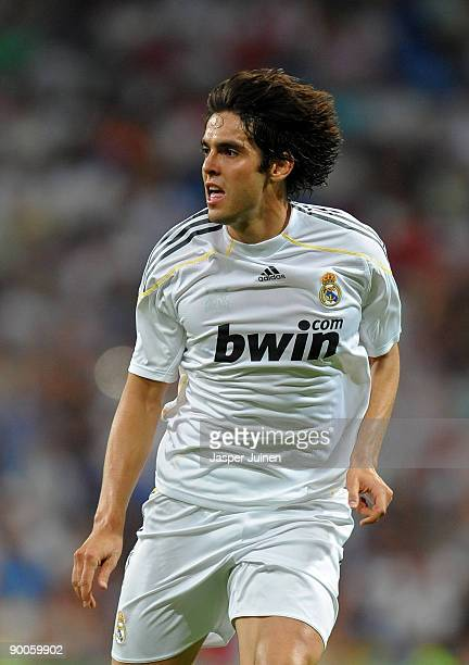 Kaka of Real Madrid in action during the Santiago Bernabeu Trophy match between Real Madrid and Rosenborg at the Santiago Bernabeu stadium on August...