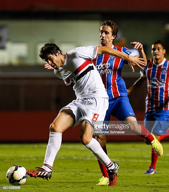 Kaka of Sao Paulo in action during the match between Sao Paulo and Bahia for the Brazilian Series A 2014 at Morumbi stadium on October 18 2014 in Sao...