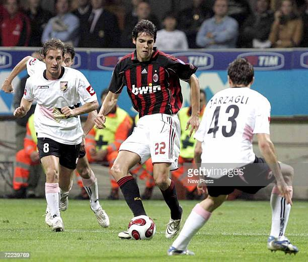 Kakai of Milan in action during the Italian serie A football match between AC Milan and Palermo at the Giuseppe Meazza stadium on October 22 2006 in...