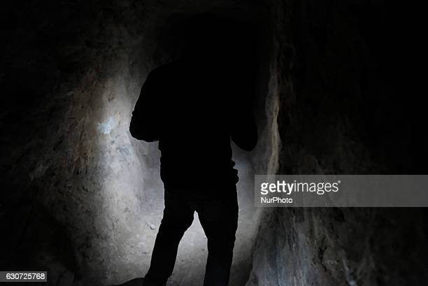 Kakais inside ISISL tunnel in Tel Laban/ Gazakan on 30 December 2016 The Kakai Kurds are returning to their homes as Mosul offensive continiues The...