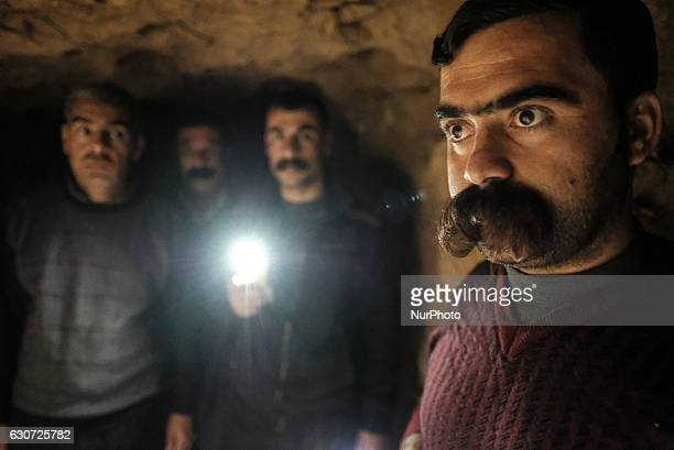 Kakais men inside ISIL tunnel in Tel Laban/ Gazakan on 30 December 2016 The Kakai Kurds are returning to their homes as Mosul offensive continiues...