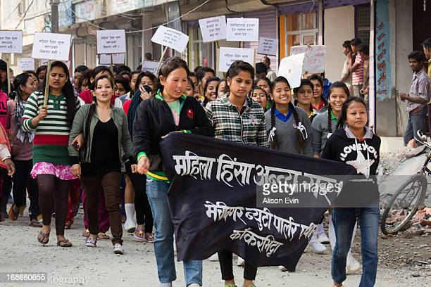 CONTENT] Kakarbhitta Nepal a small town bordering India A protest parades the streets midafternoon Women of all ages carry signs and chant in...