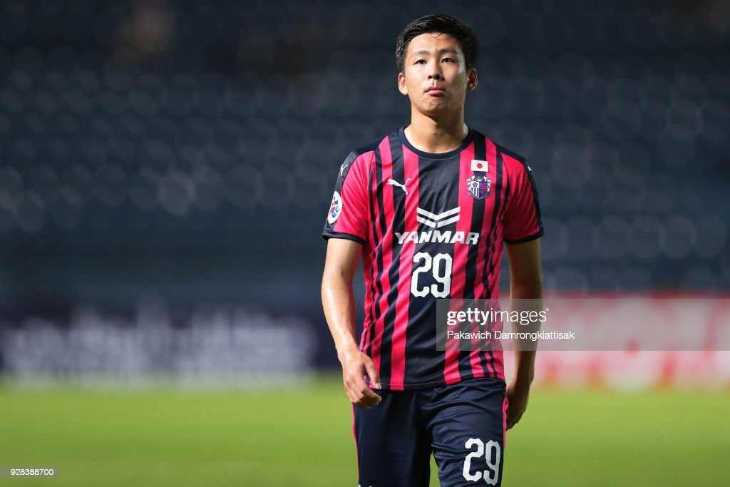 Kakeru Funaki #29 of Cerezo Osaka in action during the AFC Champions League Group G match between Buriram United Football Club and Cerezo Osaka at Thunder Castle on March 6, 2018 in Buriram, Thailand.