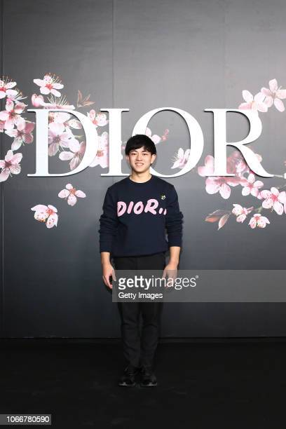 Kakeru Tanigawa attends the photocall at the Dior Pre Fall 2019 Men's Collection on November 30, 2018 in Tokyo, Japan.