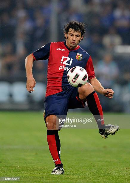 Kakha Kaladze of Genoa CFC in action during the Serie A match between Genoa CFC and UC Sampdoria at Stadio Luigi Ferraris on May 8 2011 in Genoa Italy