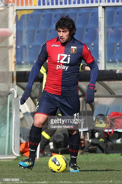Kakha Kaladze of Genoa CFC in action during the Serie A match between Genoa CFC and SS Lazio at Stadio Luigi Ferraris on February 5 2012 in Genoa...