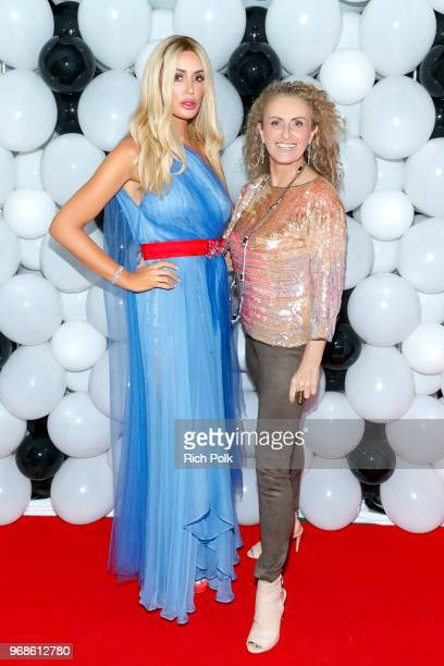 Kaki Swid and Patti Penn attend an event where model Kaki Swid hosts a designer event on June 4 2018 in Beverly Hills California