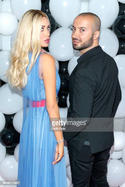Kaki Swid and Rob Sargsyan attend an event where model Kaki Swid hosts a designer event on June 4 2018 in Beverly Hills California