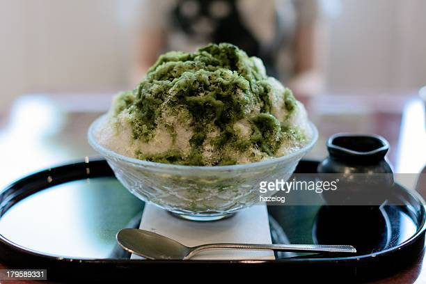 Kakigori with Green tea syrup