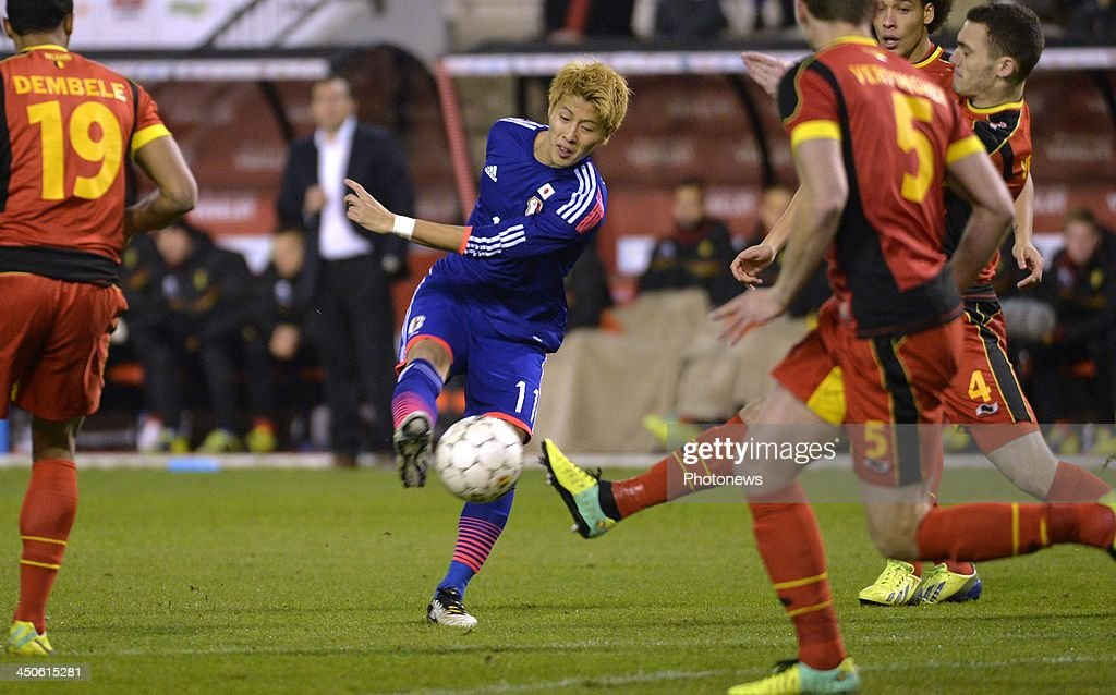 Kakitani Yoichiro of Cerezo Osaka (Japan) pictured during the pre World Cup international friendly match between Belgium and Japan on November 19, 2013 in Brussels, Belgium