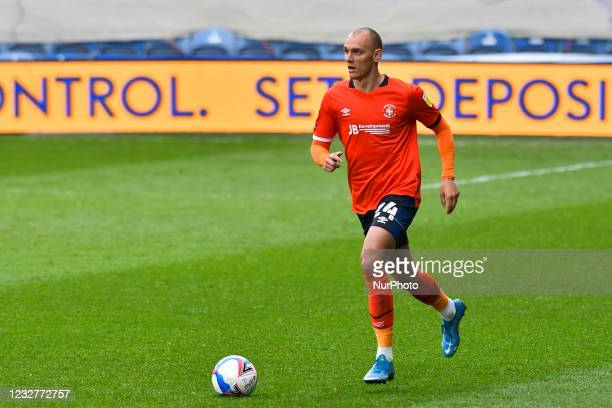 Kal Naismith of Luton town in action during the Sky Bet Championship match between Queens Park Rangers and Luton Town at Loftus Road Stadium, London...