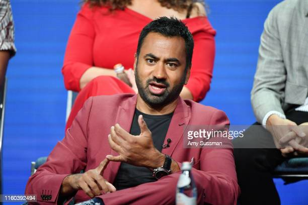 Kal Pen of Sunnyside speaks during the NBC segment of the 2019 Summer TCA Press Tour at The Beverly Hilton Hotel on August 8 2019 in Beverly Hills...