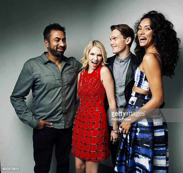 Kal Penn Claudia Lee Luke Baines and Miranda Rae Mayo promoting 'The Girl in the Photographs'