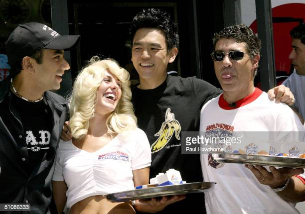 Kal Penn John Cho and Gary Baba Booey Dell'Abate of the Howard Stern show promote the new movie Harold Kumar Go to White Castle with White Castle...