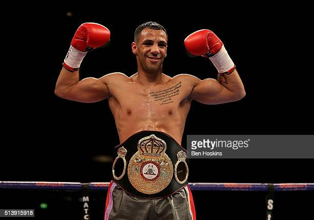Kal Yafai of Great Britain poses with the WBA InterContinental Super Flyweight Championship belt after defeating Dixon Flores of Nicaragua at Genting...