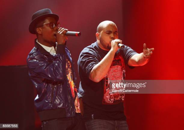 Kalaf and Conductor of Buraka Som Sistema, Regional Award Winners for Portugal perform during the MTV Europe Music Awards held at the Liverpool Echo...