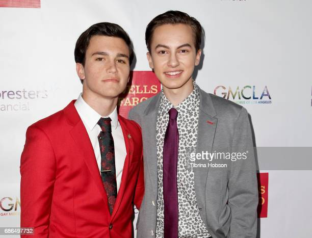 Kalama Epstein and Hayden Byerly attend the Gay Men's Chorus of Los Angeles 6th annual Voice Awards at JW Marriott Los Angeles at LA LIVE on May 20...