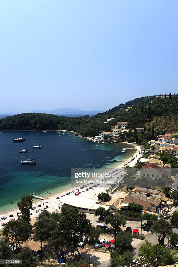 Kalami beach resort, Corfu Island : Foto de stock