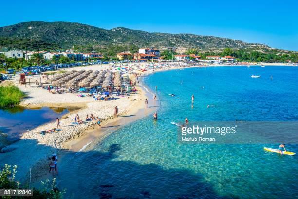 Kalamitsi beach and bay, Sithonia, Halikidiki, Macedonia, Greece.