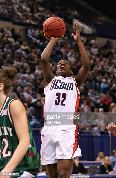 Kalana Greene UConn during the NCAA Tournament second round game at the Hartford Civic Center in Hartford Connecticut on March 20 2007