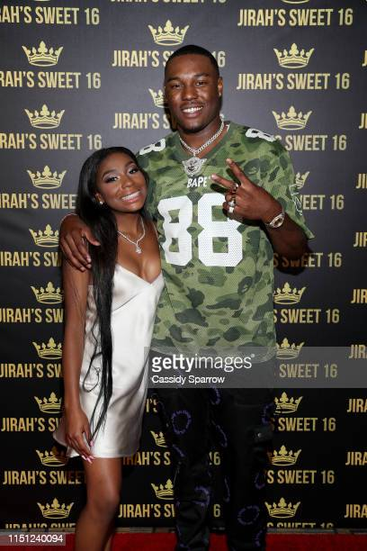 KalanFrFr and Jirah Mayweather attend her Sweet 16 Birthday Party at Hyatt In Valencia on June 20 2019 in Valencia California