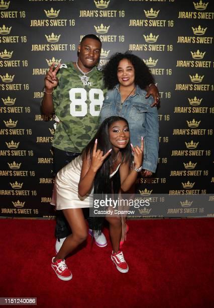 KalanFrFr Jirah Mayweather and Josie Harris attend Jirah Mayweather's Sweet 16 Birthday Party at Hyatt In Valencia on June 20 2019 in Valencia...