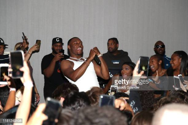 KalanFrFr performs at Jirah Mayweather's Sweet 16 Birthday Party at Hyatt In Valencia on June 20 2019 in Valencia California