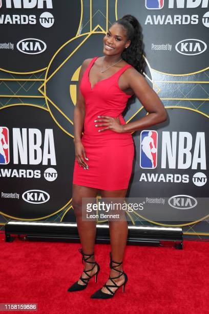 Kalani Brown attends 2019 NBA Awards at Barker Hangar on June 24 2019 in Santa Monica California