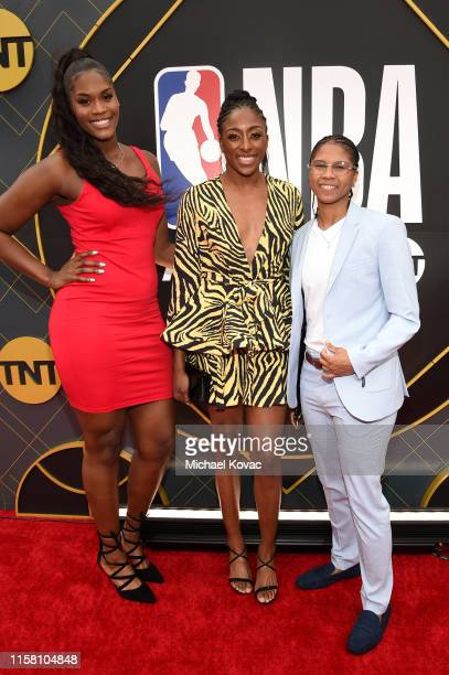 Kalani Brown Nneka Ogwumike and Tierra RuffinPratt attend the 2019 NBA Awards presented by Kia on TNT at Barker Hangar on June 24 2019 in Santa...