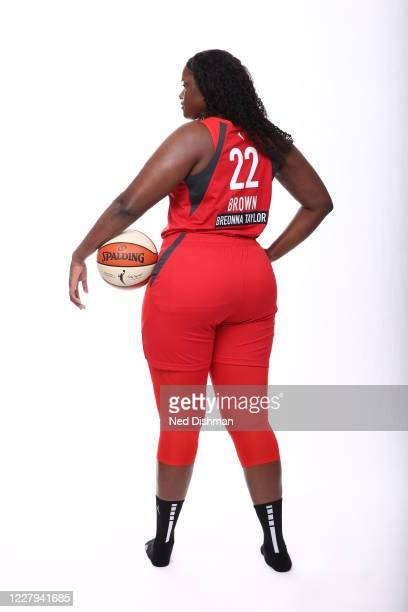 Kalani Brown of the Atlanta Dream poses for a portrait during Media Day on August 5 2020 at IMG Academy in Bradenton Florida NOTE TO USER User...