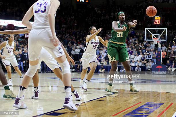 Kalani Brown of the Baylor Bears in action during the UConn Huskies Vs Baylor Bears NCAA Women's Basketball game at Gampel Pavilion on November 17th...