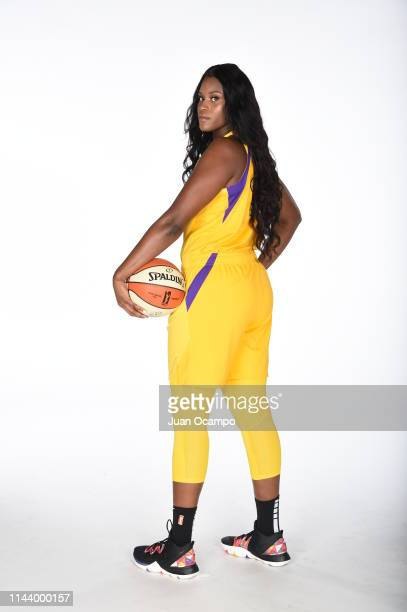 Kalani Brown poses for a portrait during the Los Angeles Sparks Media Day at Southwest College on May 14 2019 in Los Angeles California NOTE TO USER...