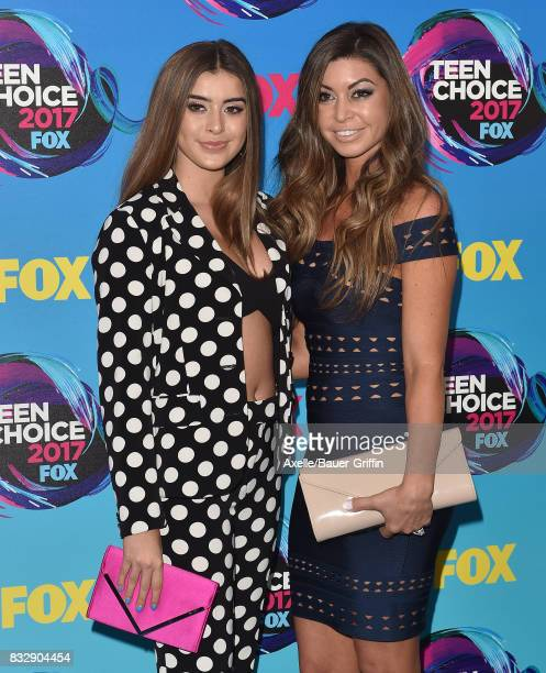 Kalani Hilliker and mom Kira Girard arrive at the Teen Choice Awards 2017 at Galen Center on August 13 2017 in Los Angeles California