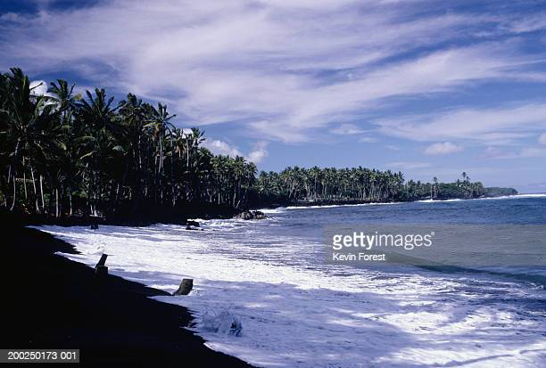 kalapana black sands beach, hawaii, usa - kalapana stock pictures, royalty-free photos & images