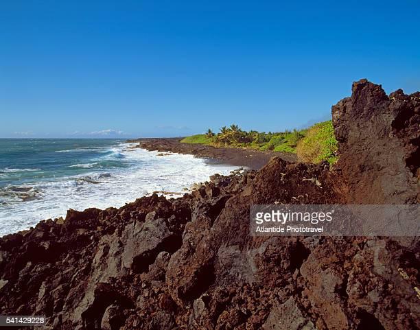 kalapana coast - kalapana stock pictures, royalty-free photos & images