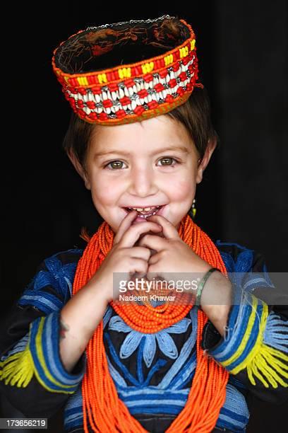 kalash baby - kalash people stock pictures, royalty-free photos & images