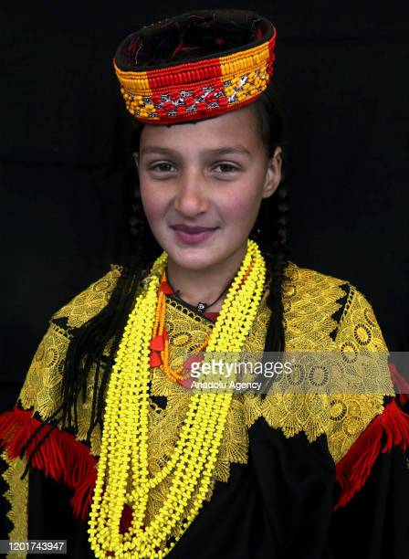 Kalash girl poses for a photo in Chitral in northern Khyber Pakhtunkhwa, Pakistan on January 06, 2020. The people of Kalash, who live in the...