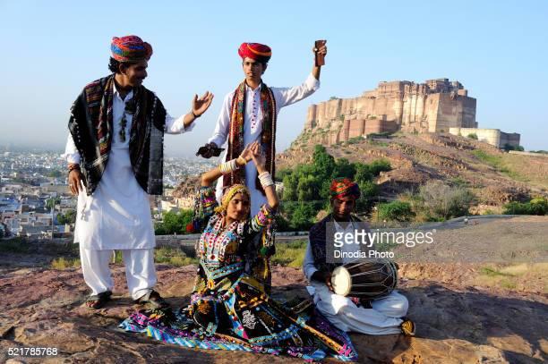 Kalbeliya Folk Dancer And Musician At Meherangarh Fort, Jodhpur, Rajasthan, India