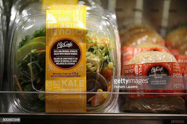 TORONTO ON DECEMBER 8 A kale and brussel sprout salad is next to a pulled beef sandwich Monster success of its coffee prompts McDonald's to launch...
