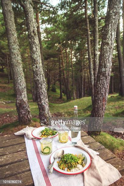 Kale and Zucchini Curry in the Forest, Portrait