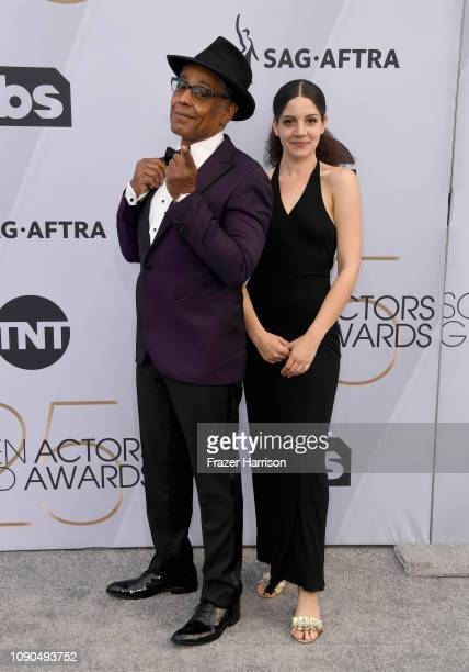 Ruby Esposito and Giancarlo Esposito attend the 25th Annual Screen Actors Guild Awards at The Shrine Auditorium on January 27 2019 in Los Angeles...
