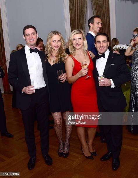 Kale Fine Greg Sarabian with Guests attend Search and Care's Annual Yorkville Ball at Private Club on November 10 2017 in New York City