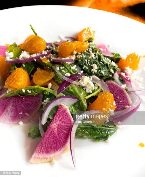 kale salad - rob castro stock pictures, royalty-free photos & images