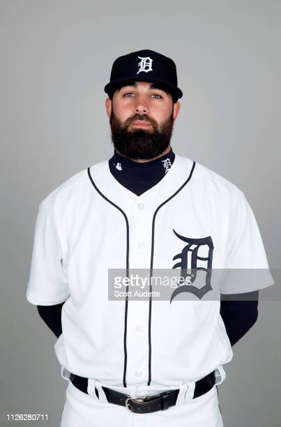 Kaleb Cowart of the Detroit Tigers poses during Photo Day on Tuesday February 19 2019 at Publix Field at Joker Marchant Stadium in Lakeland Florida