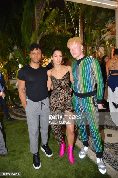 Kaleb O Lee Alaya and Shaun Ross attend What Goes Around Comes Around 25th Anniversary Celebration At The Versace Mansion With A Retrospective...